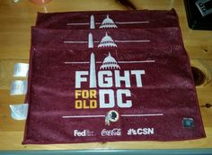 (3) Washington Redskins Rally Towels 2016 Fight For Old DC MNF vs Steelers 9/12 #SilkTouch #WashingtonRedskins
