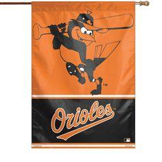 """Baltimore Orioles WinCraft 28"""" x 40"""" Bird & Script House Flag"""
