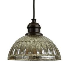 "$99.25  Height: 7.88"" Width: 10.25"" (measured from furthest left to furthest right point of fixture) Canopy Width: 5"" Canopy Depth: 1.25"" Wire Length: 8""View the Park Harbor PHPL5461 10"" Wide Single Light Mini Pendant with Ribbed Glass Dome Shade at Build.com."