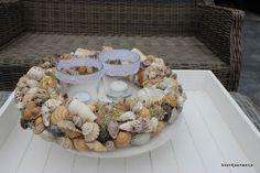 Blomkje en Wenje #wreath #shells #light