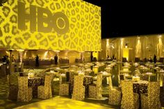 """Billy Butchkavitz's design inspiration at HBO's 2009 Golden Globes party in Los Angeles came from the colorful """"emotional architecture"""" styl... Photo: Gabor Ekecs"""