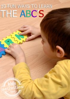 Fun ways to learn all about the alphabet!  #earlyliteracy