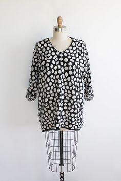 Vaux Vintage | 80s Fluffy Polka Dot Oversized Sweater