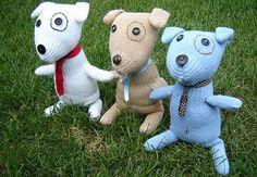 Perros o perritos de guantes reciclados