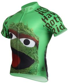 Seasame Street Oscar the Grouch Cycling Jersey