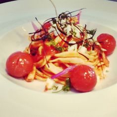 Homemade fettuccine pasta with peperoni sauce and mozzarella cheese. by patryk.zolnowski