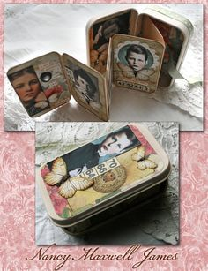 Hilda Conkling Altered Poetry Tin Collage OOAK by sugarlumpstudios, $14.95 #handmade