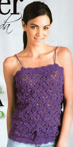 Crazy ideas: Crochet Tank in knits. with pattern