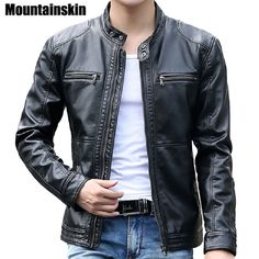 Like and Share if you want this Men's Leather Jackets Men Stand Collar Coats Motorcycle Leather Jacket Casual Slim 89.23, 71.00 Tag a friend who would love this! FREE Shipping Worldwide Buy one here---> http://liveinstyleshop.com/mountainskin-5xl-mens-leather-jackets-men-stand-collar-coats-male-motorcycle-leather-jacket-casual-slim-brand-clothing-sa010/ #shoppingonline #trends #style #instaseller #shop #freeshipping #happyshopping
