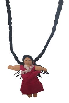 Doll necklace Pema, tibetan girl necklace Social Organization, Girls Necklaces, Design Projects, Dolls, Christmas Ornaments, Disney Princess, Holiday Decor, Disney Characters, Art