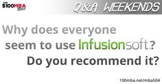 zhannadesign direction: Why does everyone seem to use Infusionsoft?