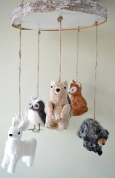 Looking for the perfect nursery theme? Consider choosing a woodland motif. It's rustic, gender neutral, and – most importantly – absolutely adorable. Here are 31 ideas to help you put together the perfect nursery for your little one. Woodland Creatures Nursery, Woodland Nursery Boy, Forest Nursery, Rustic Nursery, Boho Nursery, Nursery Neutral, Woodland Animals, Girl Nursery, Nursery Rugs