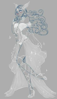 Drawing Anime Clothes, Dress Drawing, Clothing Sketches, Dress Sketches, Fantasy Gowns, Hero Costumes, Cute Art Styles, Anime Dress, Fashion Design Drawings