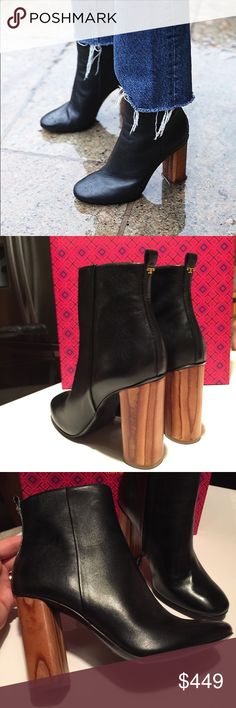 Tory Burch Raya booties black bloggers favorite New in original box Tory  Burch Raya booties 100