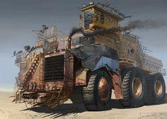 Concept cars and trucks: Various vehicle concepts by Elijah McNeal Zombie Survival Vehicle, Zombie Apocalypse Survival, Apocalypse World, Apocalypse Art, Apocalypse Costume, Mad Max, Post Apocalyptic Art, Desenhos Gravity Falls, Steampunk