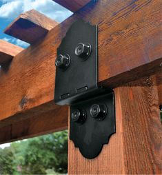 Faux Beams, Timber Beams, Wrought Iron Banister, Deck Framing, Pergola, Metal Beam, Style Rustique, Post And Beam, Ranch Style