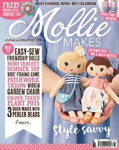 Mollie Makes issue out now! - Mollie Makes Mollie Makes, Fishing Games For Kids, Vintage Rag Doll, Diy Trend, Mix Match Outfits, Doll Patterns Free, Crochet Summer Tops, Crochet Top, Knitting Magazine