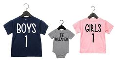 Big brother shirts- Big sister shirts- The Tie Breaker-New big brother-new big sister-new baby-pregnancy announcement shirts- Schwangerschaftansage mit Geschwister Sibling Shirts- The Tie Breaker Sibling Baby Announcements, Big Brother Announcement, Pregnancy Announcement Shirt, Sibling Shirts, Baby Shirts, Kids Shirts, Big Sister Big Brother Shirts, Baby Sister, 1 Girl