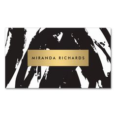 Abstract Black Brushstrokes Business Card. This is a fully customizable business card and available on several paper types for your needs. You can upload your own image or use the image as is. Just click this template to get started!
