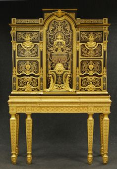 boulle furniture - at Boughton House