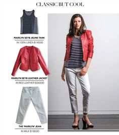 Classic but cool. Red Leather, Leather Jacket, Looking For Women, Classic, Jackets, Fashion, Studded Leather Jacket, Derby, Down Jackets