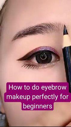 Eyebrow Makeup Tips, Eye Makeup Steps, Contour Makeup, Skin Makeup, Beauty Makeup, Makeup Tricks, Hooded Eye Makeup Tutorial, Eyebrow Tutorial, Beauty Tips For Over 50
