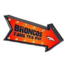 Denver Broncos Sign Marquee Style Light Up Arrow Design Special Order Broncos Fans, Nfl Denver Broncos, Broncos Memes, Marquee Sign, Marquee Lights, Up Arrow, Bronco Sports, Pro Football Teams, Light Up Signs