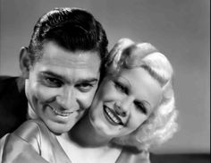 Clark Gable & Jean Harlow in Hold Your Man - 1933 (my favorite Jean Harlow movie) Hooray For Hollywood, Golden Age Of Hollywood, Vintage Hollywood, Hollywood Stars, Classic Hollywood, Hollywood Glamour, Hollywood Icons, Hollywood Couples, Hollywood Actresses