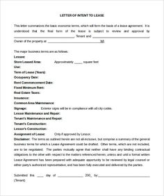 National Letter Of Intent FootballLetter Of Intent Template India