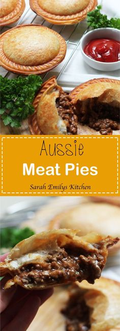 Aussie Meat Pies - World Dinner Recipes - Torten Aussie Pie, Australian Meat Pie, Aussie Food, Australian Recipes, Healthy Meals To Cook, Healthy Cooking, Minced Beef Pie, Beef Recipes, Cooking Recipes