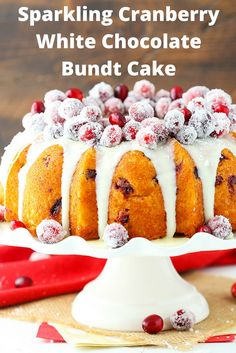 cake sparkling sparkling cranberry cranberry white sweets cakes ...