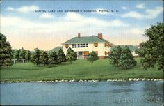 Capitol Lake and Governor's Mansion, Pierre, S. D