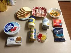 Sandwichon – Manuel's Latin Infused Cooking Party Sandwiches, Sandwich Cake, Sandwichon Recipe, Types Of Meat, Tasty, Yummy Food, Cream Cheese Icing, Sweet Desserts, Fruits And Vegetables