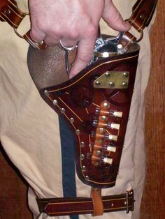 Steampunk Gun Holster Belt;  love love love this!
