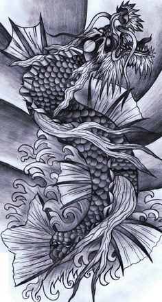 Koi Dragon. Obviously needs Greg's touch and I'm thinking Blue and Purple
