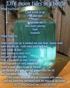 The Mermaid Priestess' Magick Spells, Rituals & Psychic Readings(Diy House Party) Mermaid Crafts, Mermaid Diy, Jar Crafts, Diy And Crafts, Crafts For Kids, Bottle Crafts, Creative Crafts, Decor Crafts, Mermaid Bathroom