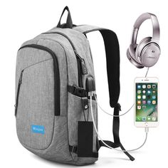 Famous Brand 15 inch Laptop Backpack External USB Charge Computer school Backpacks Anti-theft Waterproof Bags for Men Women #Affiliate