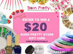 Giveaway: Enter to Win a $20 Born Pretty Store Gift Card! http://thehappysloths.blogspot.com/2014/01/giveaway-enter-to-win-20-born-pretty.html