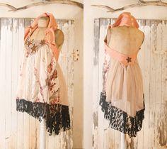 Babydoll dress Pink dress Halter dress Silk dress Fairy dress Short wedding dress Open back dress Backless dress Mini dress upcycled dress. $145.00, via Etsy.