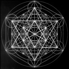"interplanetaryrainbows:  Metatron's Cube: One of the most important informational systems in the universe and one of the basic creation patterns for all of existence. Within it are found all five of the Platonic Solids, the ""building blocks"" of creation."