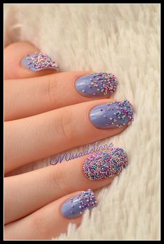 Missadelinne: Sweet Caviar Nails. These are so impractical but I love them so much. This color palette is lovely and springy too.