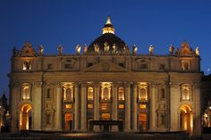 St. Peter's Basilica at night- this was even more impressive than the Sistine Chapel- by far.