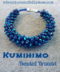 Adventures of a DIY Mom: Kumihimo Beaded Bracelets Tutorial  ☀CQ #jewelry #crafts #DIY.  Thank you for sharing! ¯\_(ツ)_/¯