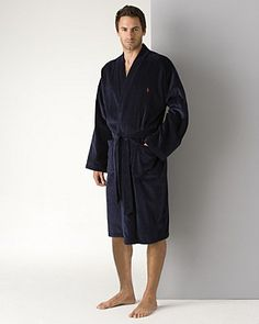 Polo Ralph Lauren Men's Kimono Cotton Velour Robe | Bloomingdale's