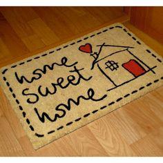 FELPUDO SWEET HOME - kookshop   #doormat #felpudo #entrada #puerta #recibidor Sweet Home, Home Decor, Home, Entrance Gates, Hall, Rugs, The Originals, Needlepoint, Decoration Home