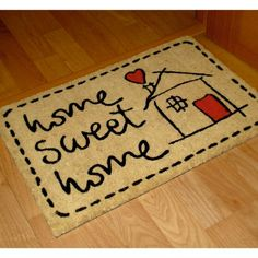 FELPUDO SWEET HOME - kookshop   #doormat #felpudo #entrada #puerta #recibidor