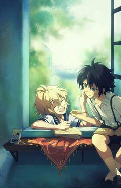 Mika and yuu yaoi owari no seraph / seraph of the end Mikayuu Manga Anime, Fanarts Anime, Anime Art, Anime Love, Anime Guys, Mika And Yu, Mika Hyakuya, One Photo, Desenhos Love