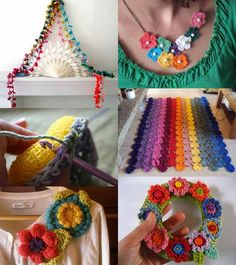 """"""" A nice roundup of crocheted free flower projects & patterns: From Mollie Makes. """""""