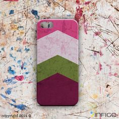 INFIGO - Triangle hard case, cover with colorful stripes, shapes, vintage geometric iPhone 5 case for Samsung S4 S3 and iPhone 5/4 - T20063