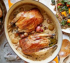 Pot-roast pheasant with Fino & porcini